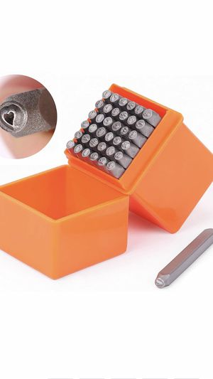 HORUSDY 37-Piece Number & Capital Letter Stamp Set (A-Z & 0-9 + Love) Punch Perfect for Imprinting Metal, Plastic, Wood, Leather, 1/8 (3mm) (37-Piece) for Sale in Las Vegas, NV
