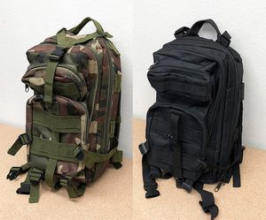 (New in box) $15 each 30L Outdoor Military Tactical Backpack Camping Hiking Trekking (Black/Camouflage) for Sale in Whittier, CA