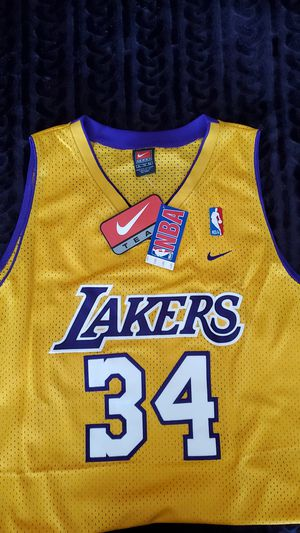 SHAQUILLE O'NEAL Los Angeles Lakers #34 TEAM NIKE Stitched Yellow NBA Jersey Size Adult XL NWT (retails for $70) for Sale in Chula Vista, CA