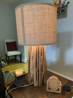 Light Brown Wood Lamp for Sale in Baltimore, MD