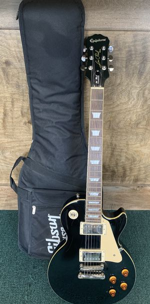 Epiphone Les Paul Black Standard Electric Guitar w/ Gibson Gig Bag for Sale in CT, US