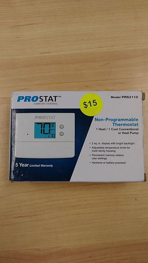 PROSTAT Non-Programmable Thermostat for Sale in Morton, PA