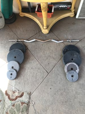 CURL BAR W/ WEIGHTS FOR SALE !! for Sale in Pomona, CA