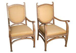 Oak French Style Armchairs for Sale in Atlanta, GA