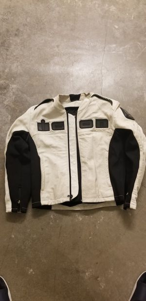 ICON Motorcycle leather jacket sz Large for Sale in Huntington Beach, CA