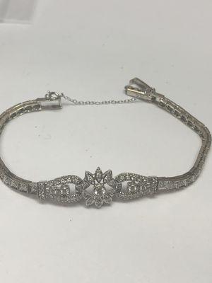 Vintage style 14k white gold bracelet for Sale in Baltimore, MD