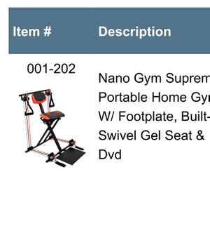 Portable Home Gym Exercise Seat New in Box for Sale in Westland, MI