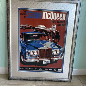 Large Framed Steve McQueen for Sale in Tempe, AZ