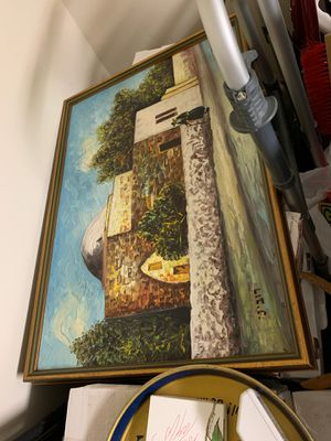 Oil painting of Rachel's Tomb in Bethlehem Israel for Sale in Rockville, MD
