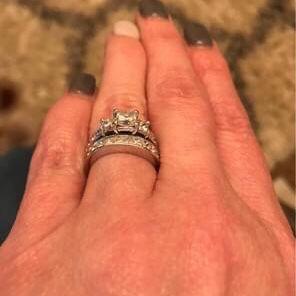 Custom Princess Cut Wedding Set for Sale in Haslet, TX