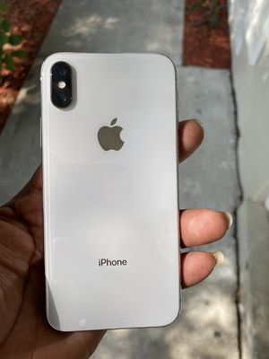 Sprint iPhone X like new 64gb clean IMEI unlocked via Gevey rsim for T-Mobile, Simple mobile, AT&T, Cricket, Metropcs, for Sale in Orlando, FL