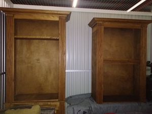 NEW Pair of bookshelves w/ lower cabinet base for Sale in New Orleans, LA