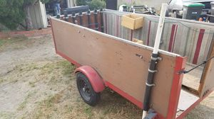 Utility trailer 4 x 8 foot trailer flat bed box trailer NOT A CHEAP HARBOR FREIGHT TRAILER! for Sale in Stanton, CA