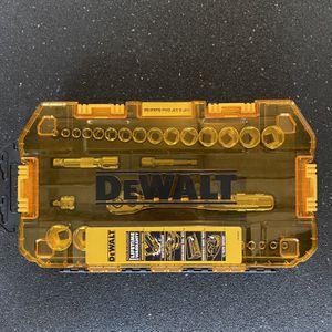Dewalt 1/4 & 3/8 Inch Drive Socket Set 34 Piece for Sale in Orlando, FL