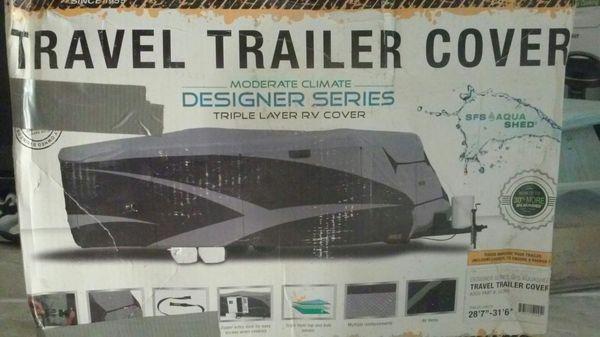 Travel trailer cover