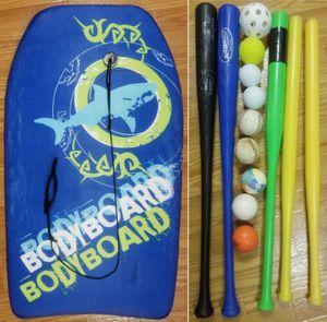 BODY BOARD, BATS, WIFFLE BALL, BASEBALL, LACROSSE, FIELD HOCKEY for Sale in Southampton Township, NJ