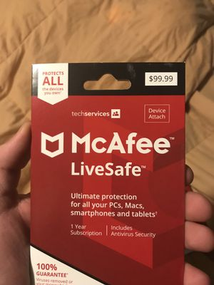 McAfee LiveSafe Device Protection for Sale in Creve Coeur, MO