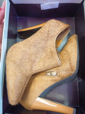 Anne Klein fur heeled boots for Sale in Pacifica, CA