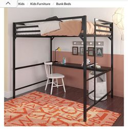 Loft Bed frame Full Size With Desk No Mattress for Sale in San Diego,  CA