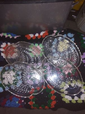 Vintage set of 4 Snack trays $10 for Sale in Ontario, CA
