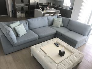 Blue fabric couch for Sale in Santa Monica, CA