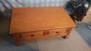 Coffee table with compartments for Sale in Phoenix, AZ