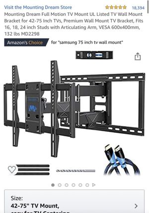 42-75 in tv mount for Sale in Fontana, CA