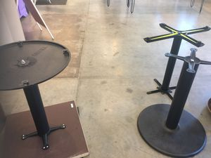 Table Bases - black, metal, (2) bistro style, restaurant for Sale in Raleigh, NC