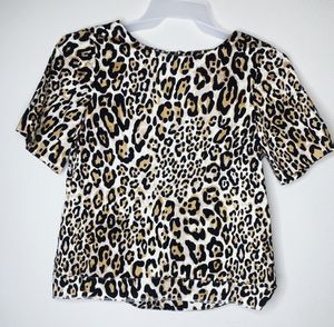Topshop Leopard Print Top Size 4 for Sale in San Antonio, TX