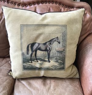 Large tapestry horse pillow for Sale in Warrenton, VA