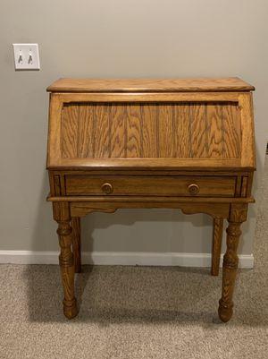 Wood secretary desk for Sale in Naperville, IL