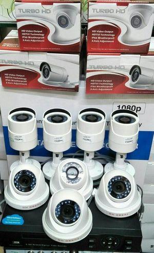 8- 1080p security cameras with install/ 8- camaras HD con instalacion incluyida.. for Sale in Dallas, TX