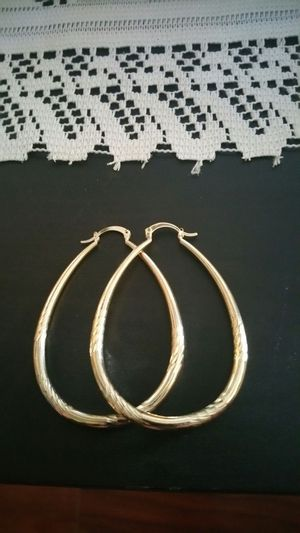 Gold plated ear rings for Sale in Chevy Chase, DC