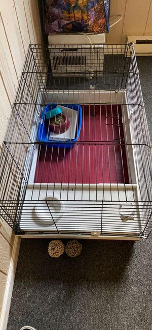 Bunny cage and other bunny items for Sale in Bloomsburg, PA