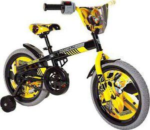 Transformers Boy's 16-Inch Bike w- training wheels Black Yellow Lights Sound for Sale in Rockville, MD