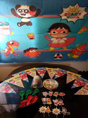 Ryan's world decorations Ryan's world backdrop ryan's world balloons for Sale in Bellflower, CA