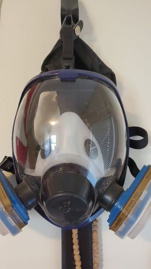 Chemical mask worn once for Sale in Vancouver, WA