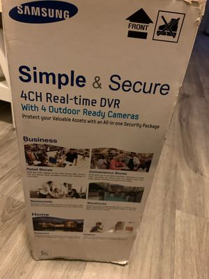 Samsung 4 Channel Security Cameras for Sale in Houston, TX