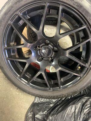 Nice black wheels 5 lugs for Sale in Virginia Beach, VA