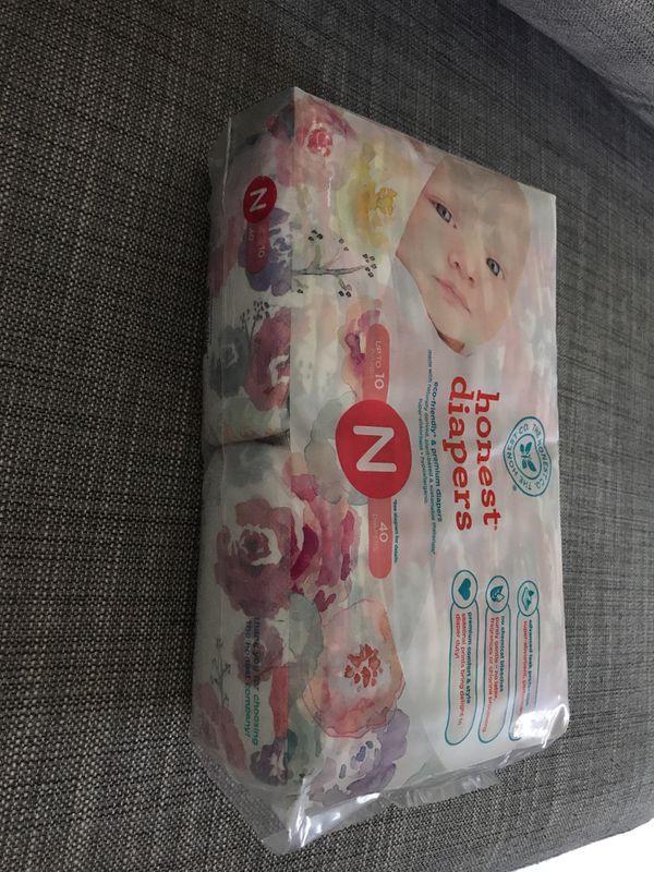 Honest newborn diapers(40 count)