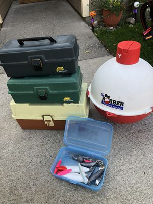 Fishing case + cooler for Sale in Wenatchee, WA