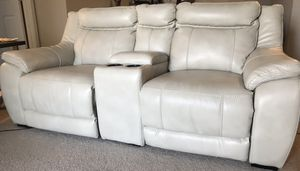 Electric reclining sofas / couches with theatre style center console for Sale in Duluth, GA