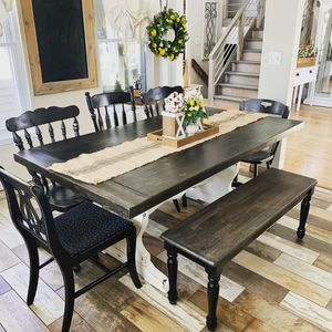 Farm style kitchen or dining table and chair / bench options for Sale in Littleton, CO