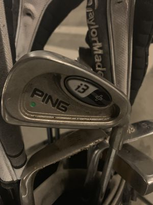 Ping i3 irons, Taylor made r7 woods, Cleveland wedges, carbite putter golf clubs for Sale in West Hollywood, CA