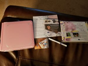 Creative Memories Collection, Pink Album, It's a Girl Snap Pack, Page Protectors, Tape Runner and Fine Tip Black Marker for Sale in Frederick, MD