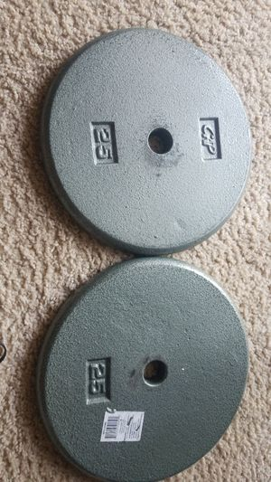Pair of 1 inch 25 lbs CAP weight plates for Sale in Gaithersburg, MD