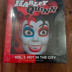 Harley Quinn Book & Mask Set for Sale in Carrollton, TX