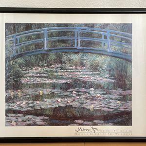 Monet Japanese Footbridge Framed Print - $50 for Sale in San Leandro, CA