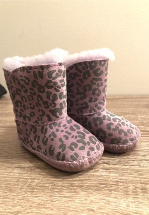 infant baby girl leopard print purple UGG boots for Sale in Algonquin, IL