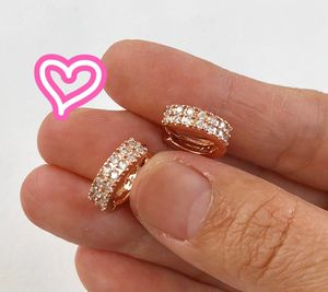 14K Rose Gold Filled Row Pave Hoops for Sale in San Ramon, CA